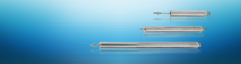 Inductive linear sensor with plunger