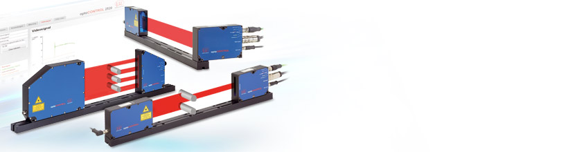 Precise laser micrometer with integrated controller